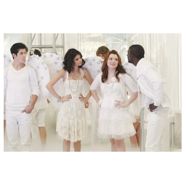 Jennifer Stone, David Henrie and Selena Gomez in Wizards of Waverly... ❤ liked on Polyvore