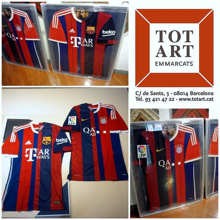 marcos para camisetas de futbol a medida en Barcelona totart.cat ...