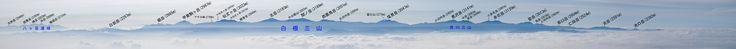 2015年3月28日・中央アルプス・空木岳より南アルプス全景