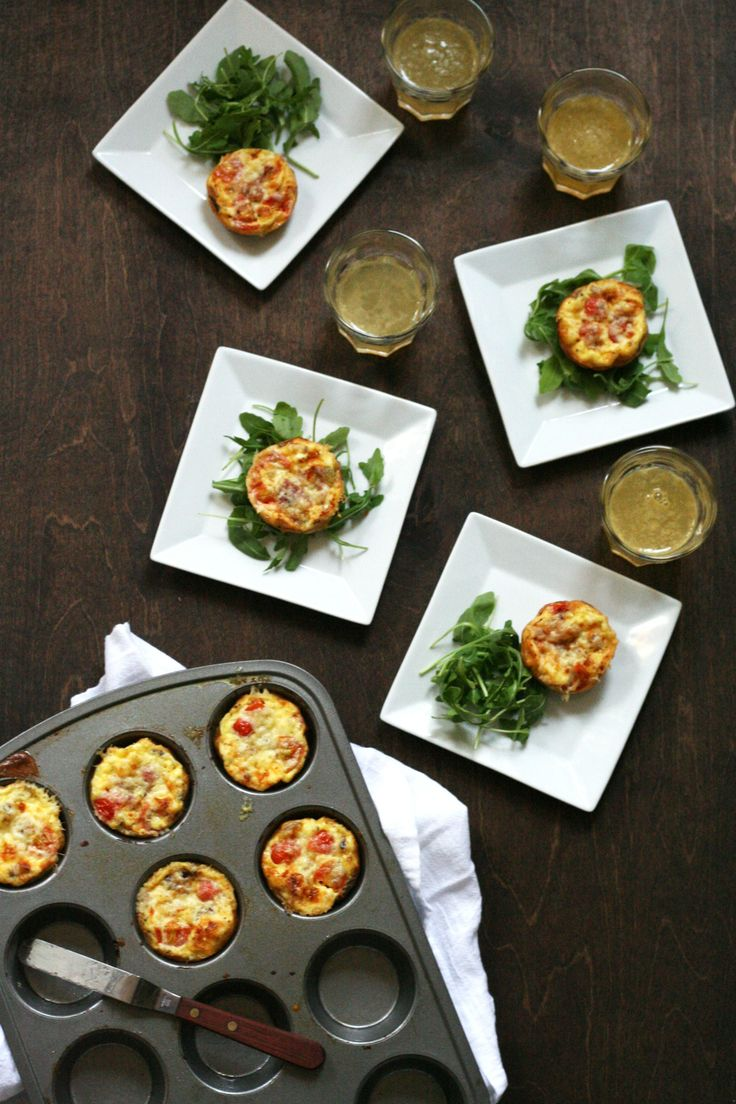 Mini bacon and tomato quiches. Get the recipe via @PureWow
