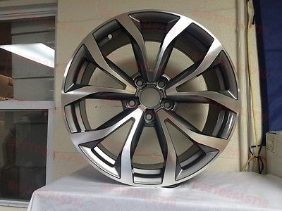 """18"""" A6 MACHINE FACE STYLE RS3 RS5 RIMS WHEELS VW TDI JETTA A3 A4 A6 35 OFFSET"""