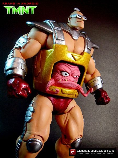 Krang in Android (Teenage Mutant Ninja Turtles) Custom Action Figure LooseCollector is THAT DUDE!