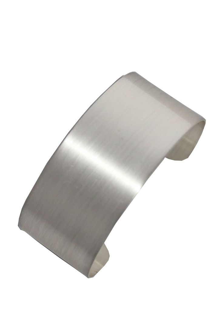 Thick Silver Brushed Cuff | get it at www.styledbynoir.com