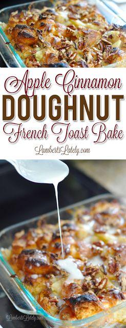 Apple Cinnamon Doughnut French Toast Bake
