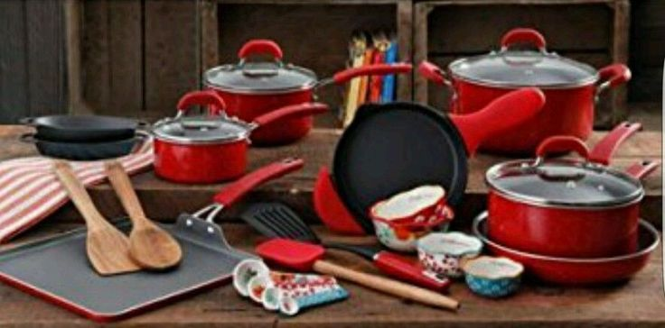New Pioneer Woman 27 Piece Cookware Set Vintage Speckled Red Limited Edition | Home & Garden, Kitchen, Dining & Bar, Cookware | eBay!