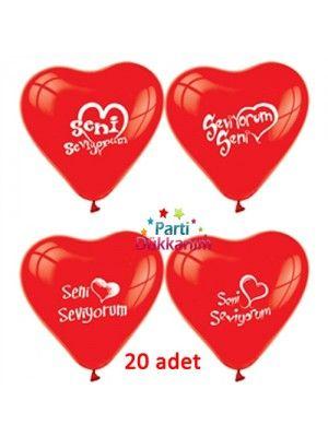 Seni Seviyorum Balonu 20 Adet fiyatı