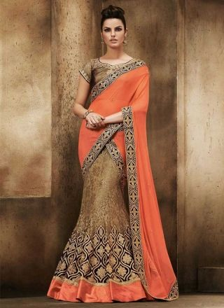 how to wear a lehenga from a saree