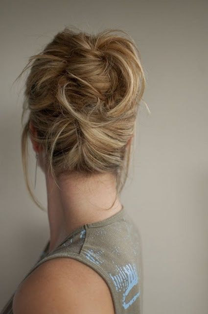 Messy high Twist and Pin hairstyle by Kristy Hanning