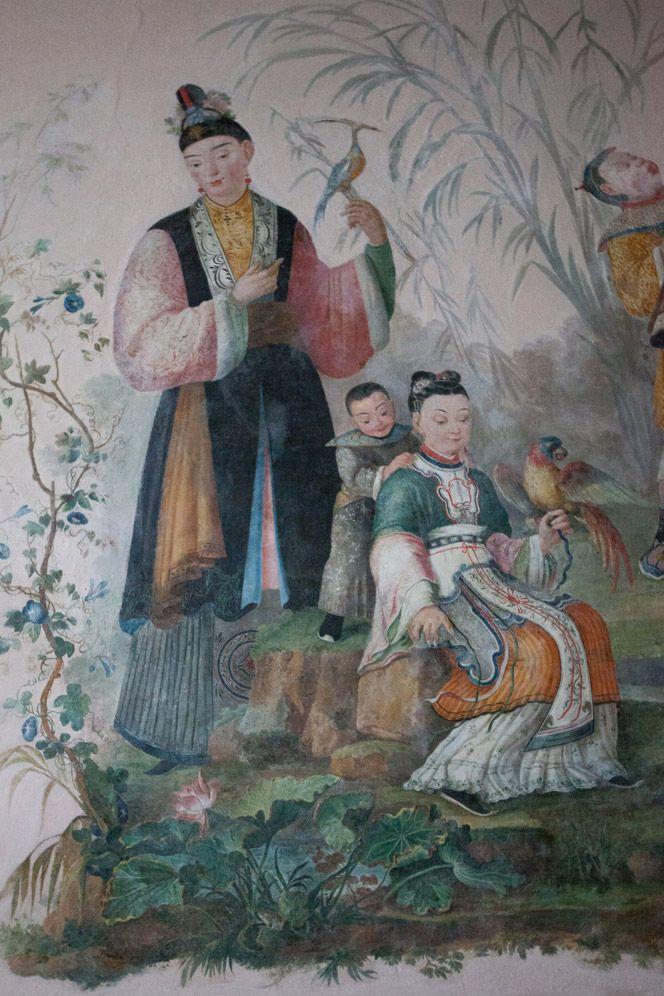 Villa Favorita, Ercolano, Sala con decorazioni in stile cinese, Hall with Chinese-style decor
