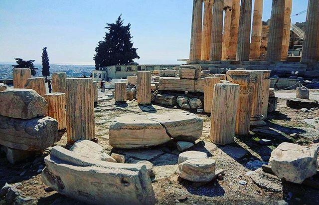 Walking through centuries of priceless #historical & architectural achievements! 👣 #Acropolis #Parthenon #Athens #greekhistory… | Greece