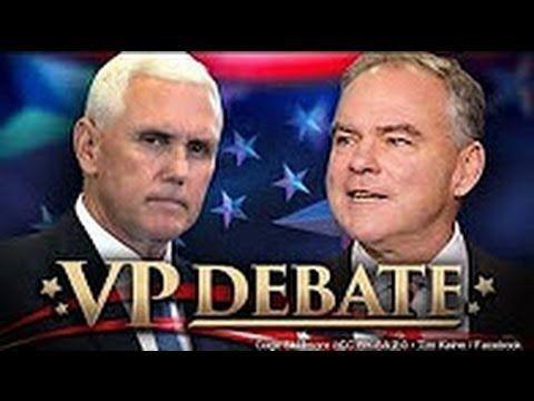 Mike Pence vs Tim Kaine. Debate 2016, Vice Presidential Debate. News Tod...