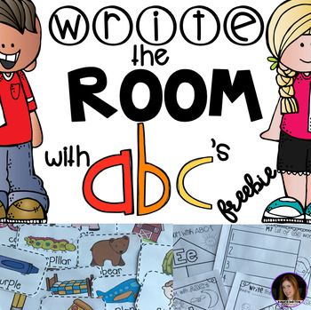 Are you looking for a fun way to incorporate writing, letter/sound identification and movement into your literacy centers?  Your children will love Write the Room with ABC's.   This unit will be your go-to unit for letter recognition, sound association and word writing.
