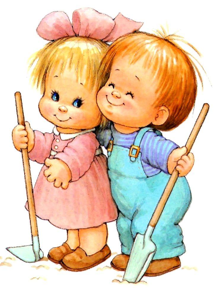 Картинки нарисованные с маленькими детьми
