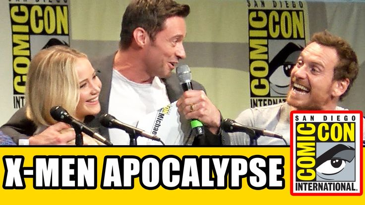 X-Men: Apocalypse Comic Con Panel - Jennifer Lawrence, Michael Fassbende...