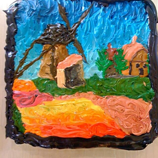 レシピとお料理がひらめくSnapDish - 4件のもぐもぐ - Monet Cake - Red wine chocolate cake with vanilla butter cream by kipper's kitchen