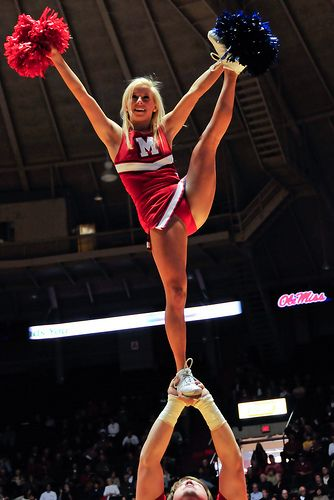 Ole Miss CHEER, college cheerleading, heel stretch, stunt, cheerleader, collegiate moved from Kythoni's Cheerleading: Collegiate board http://www.pinterest.com/kythoni/cheerleading-collegiate/ #KyFun