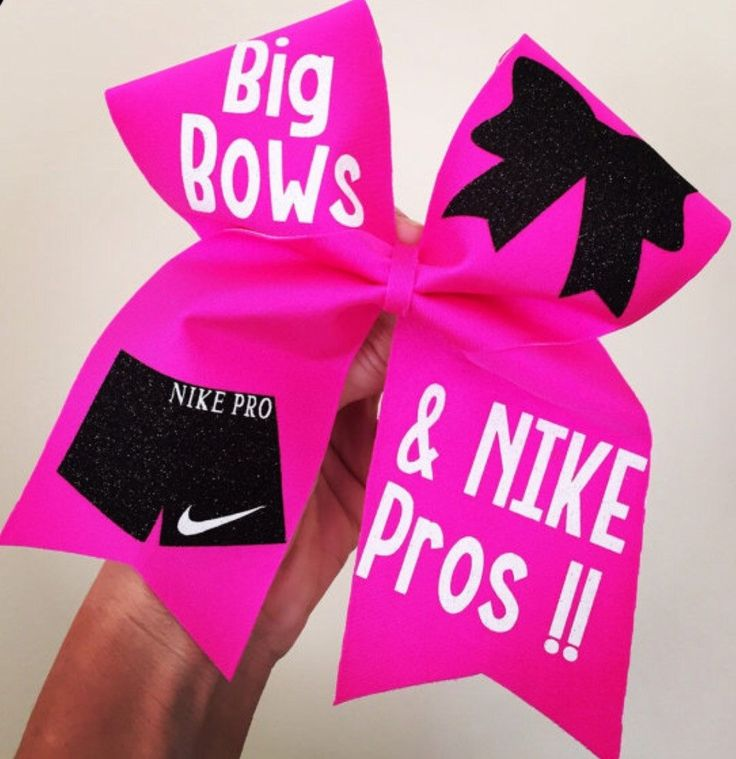 Big Bows And Nike Pros Hot Pink Spandex Cheer Bow