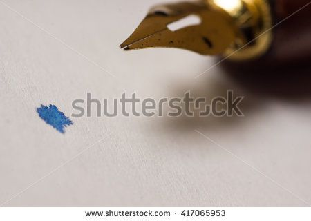 Calligraphy industry concept photograph. High resolution image.