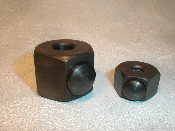 Quick removal push button hex nut standard sizes