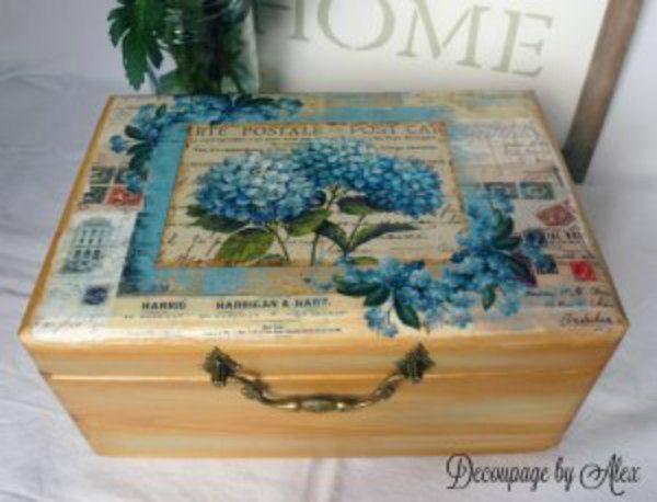 Decoupage wooden box
