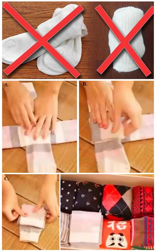 Cómo doblar calcetines para que no se estropeen las gomas y no se descoloquen los pares