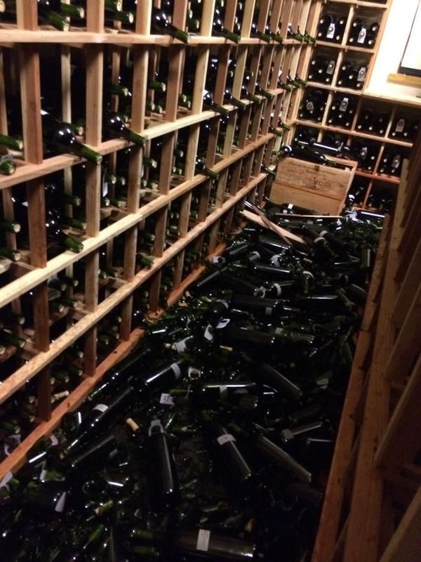 Siver Oak Winery damage from 08/24/2014 6.0 earthquake.