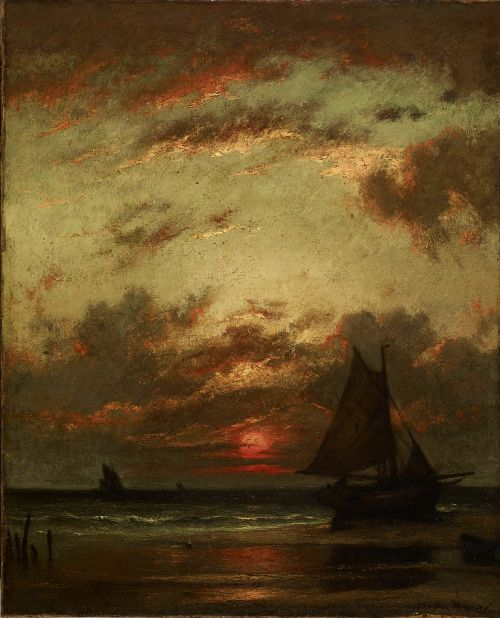 summerlilac:  Sunset on the Coast, 1870, Jules Dupre