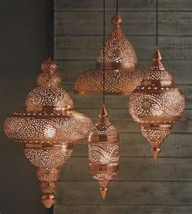 Morracan Copper Lamps. I could probably make this