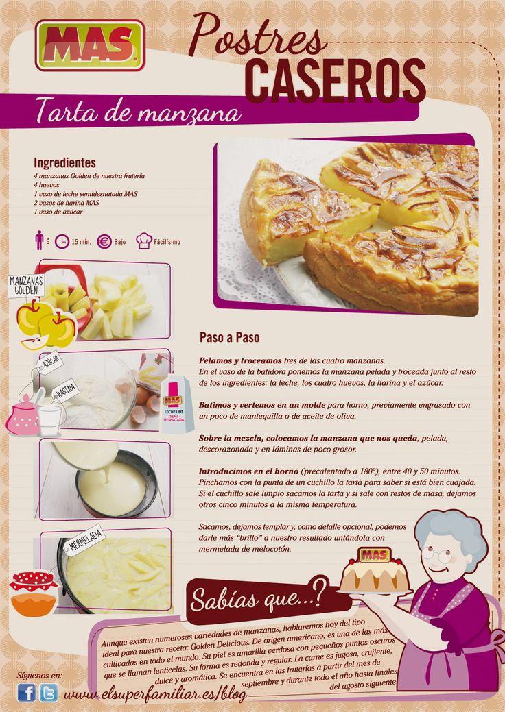 #Tarta de Manzana, exquisita y fácil de preparar