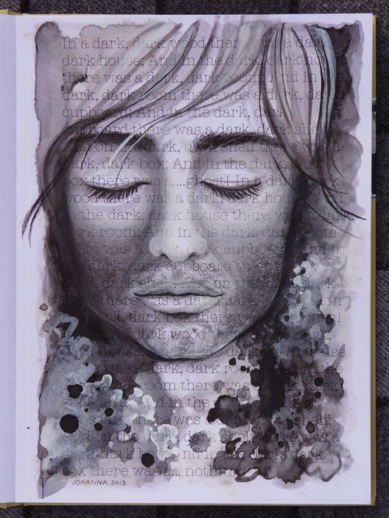 Artwork made by Johanna Ollila inspired by Josh Lanyon book In a Dark Wood