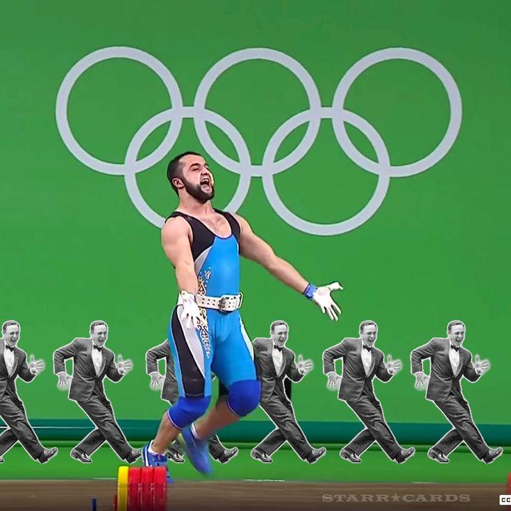 Weightlifter Nijat Rahimov flashes jazz hands after setting world record at Rio Olympics @starrcards http://ift.tt/2aOz6HY #Rio #Rio2016 #Olympics #OlympicGames #goldmedal #worldrecord #weightlifting #jazzhands #NijatRahimov #Kazakhstan #Azerbaijan #cleanandjerk