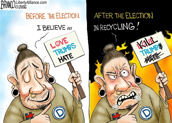 recycle-signs-600-la Love Hate Election | Political Cartoon | A.F. Branco