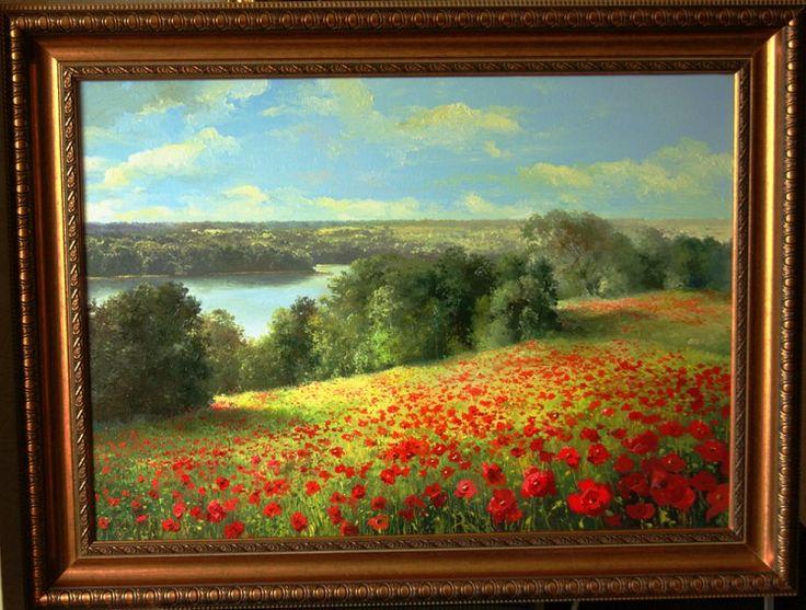 landscape of poppey (landscape painting)