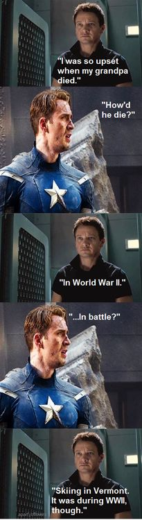 The heroic death of grandpa hawkeye