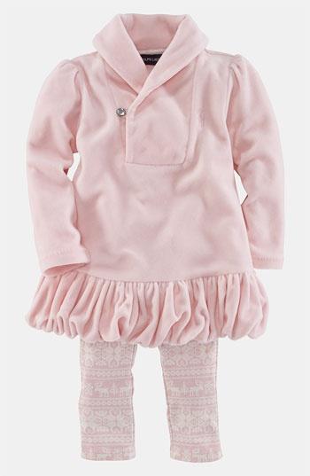 Ralph Lauren Velour Tunic & Leggings (Infant) available at #Nordstrom