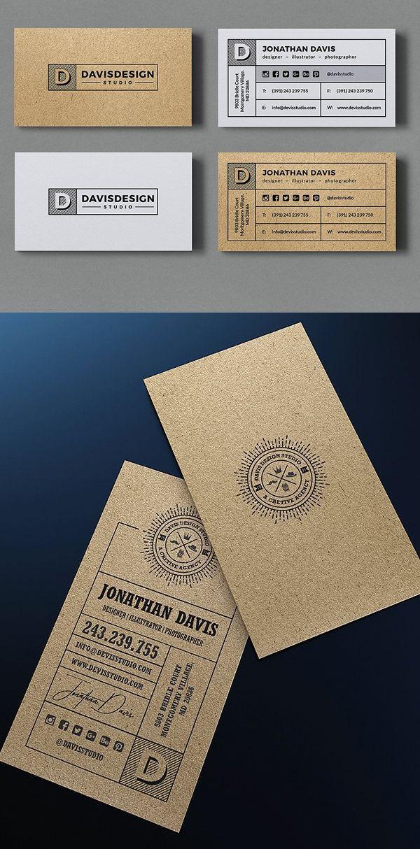 Kraft Paper Business Card Bundle Free Business Card Mockup Business Card Mock Up Classy Business Cards