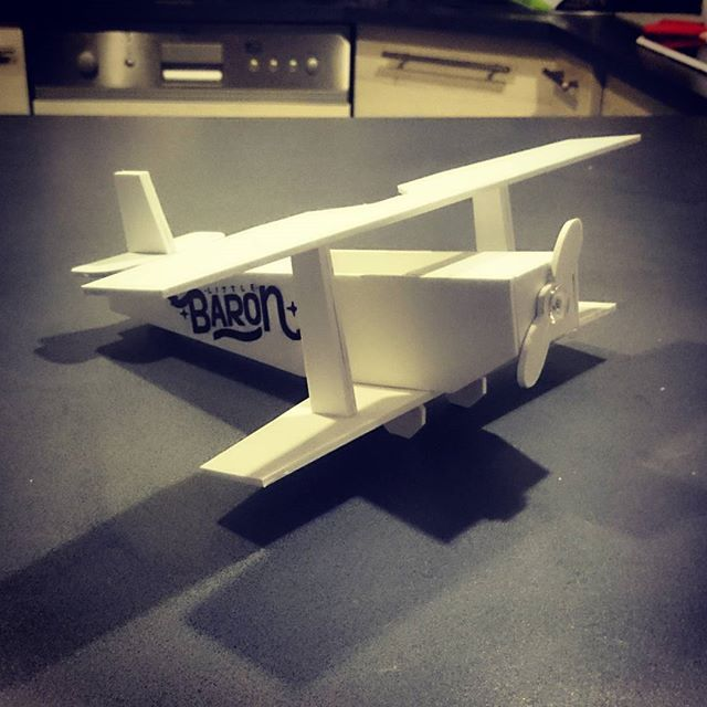 A PCV toy plane i did for my daughter By Soyski #plane #aeroplane #fly #little #baron #toy #pcv #white #typography #calligraphy #calligraffiti #soyski #handmade