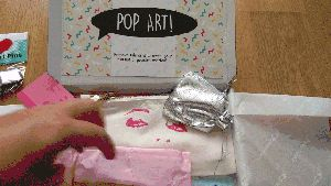 Pop Art from Boxcitement  Excitingly I got sent the latest box from the amazing Boxcitement to review. This months theme is Pop Art and it did not disappoint. Filled to the brim with fun little gifts each one picked to make you smile.  I cant get enough I have reviewed a few Boxcitement boxes in the past so I was kind of prepared for what I would be getting but it also meant I had expectations. So I was very excited about receiving another box. The very first Lift Off box was amazing Clouds…