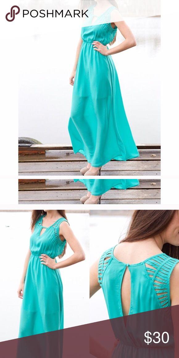 Teal Maxi Dress Reposh. Adorable dress. Perfect condition Dresses Maxi