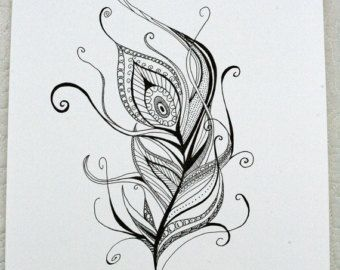 another feather drawing - google search