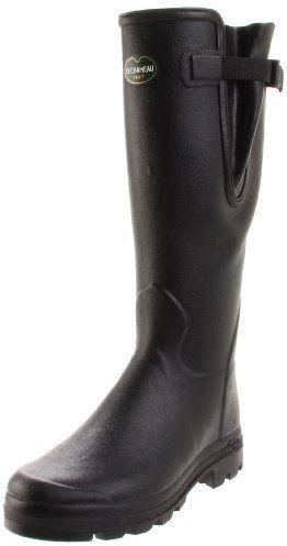 $119, Black Rain Boots: Le Chameau Vierzon Rain Boot. Sold by Amazon.com. Click for more info: https://lookastic.com/men/shop_items/122217/redirect