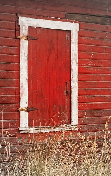 Old Red Barn Doors