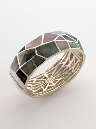 stephen webster black mother of pearl bangle. I think this one is my favourite