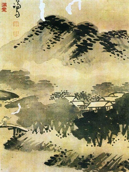 (Korea) by Gyeomjae Jeong Seon. ca 18th century CE. color on paper.  겸재 정선