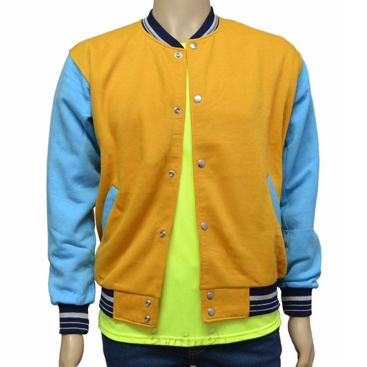 Varsity Jacket Yellow Sea Blue