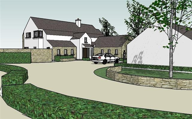 Proposed sketch design for farm dwelling near Cork City Airport, Cork by Hugodesign