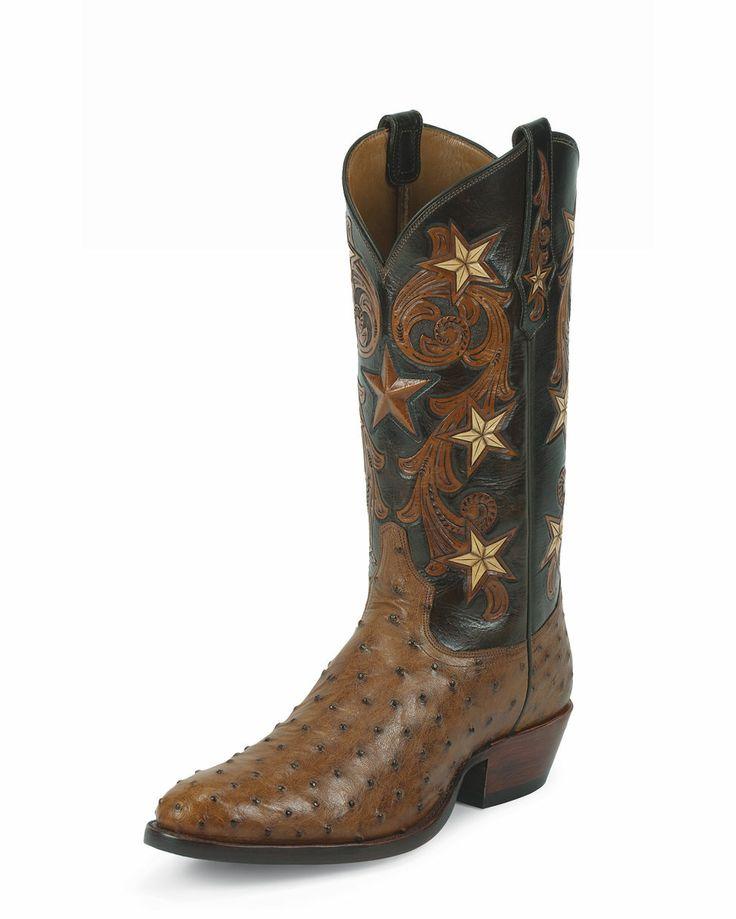 Tony Lama Men's Brandy Cowboy Classic Ostrich Boot