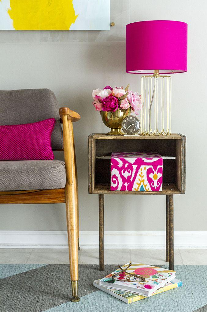 DIY Holzkiste Beistelltisch | Dream Green DIY (das wäre auch eine süße Idee für …  – home decor