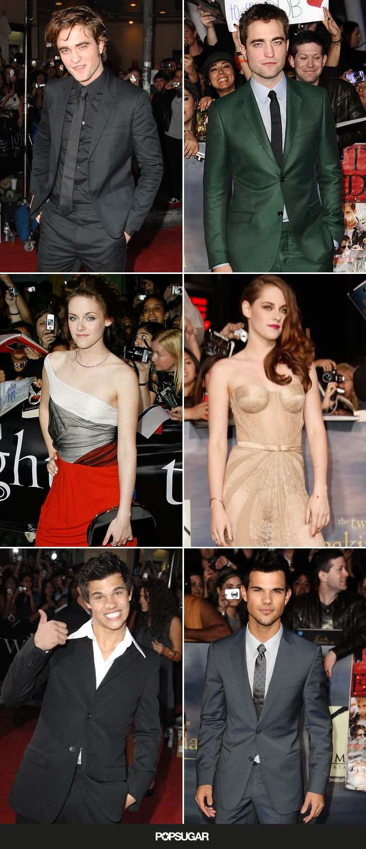 These pics, from the first and last Twilight premieres, say a LOT.