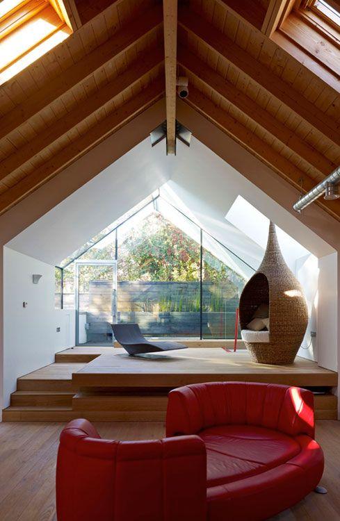 Best Triangular Window Images On Pinterest Attic Spaces - Triangle bedroom design